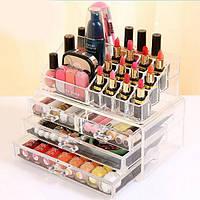 Органайзер для косметики настольный Cosmetic Organizer Makeup Container Storage Box 3 Drawer