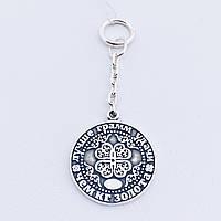 Серебряный сувенир монета на удачу