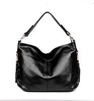 Женская мягкая сумка из натуральной кожи