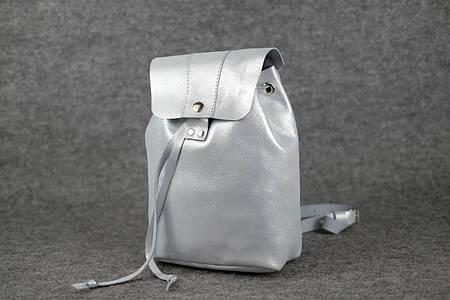 Женский рюкзак на затяжках с кнопкой  11943  Серый