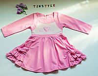 Нежное   платье  для девочки  ( рост 104-110 см), фото 1