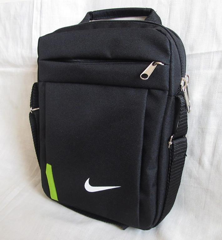 585ae31a Мужская сумка через плечо барсетка спортивная черная с лайм 26х21х8см