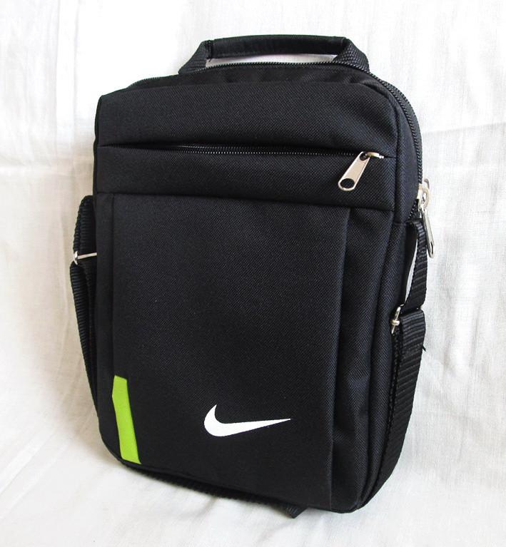 0994278465af Мужская сумка через плечо барсетка спортивная черная с лайм 26х21х8см, ...
