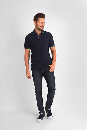 Темно-синяя футболка POLO 1801-2 разм. 48, фото 2