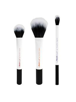 Real Techniques Duo-Fiber Collection набор из 3 кистей дуофибра для макияжа белые