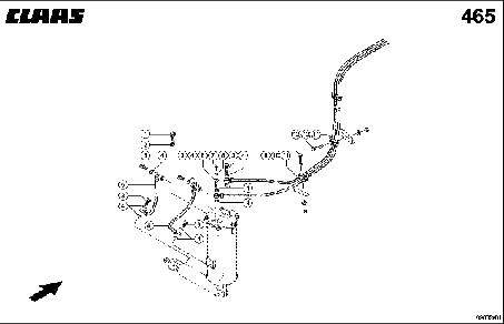 HYDR. PIPE; PENDULUM CONTROL - CLAAS TUCANO 330 / 320