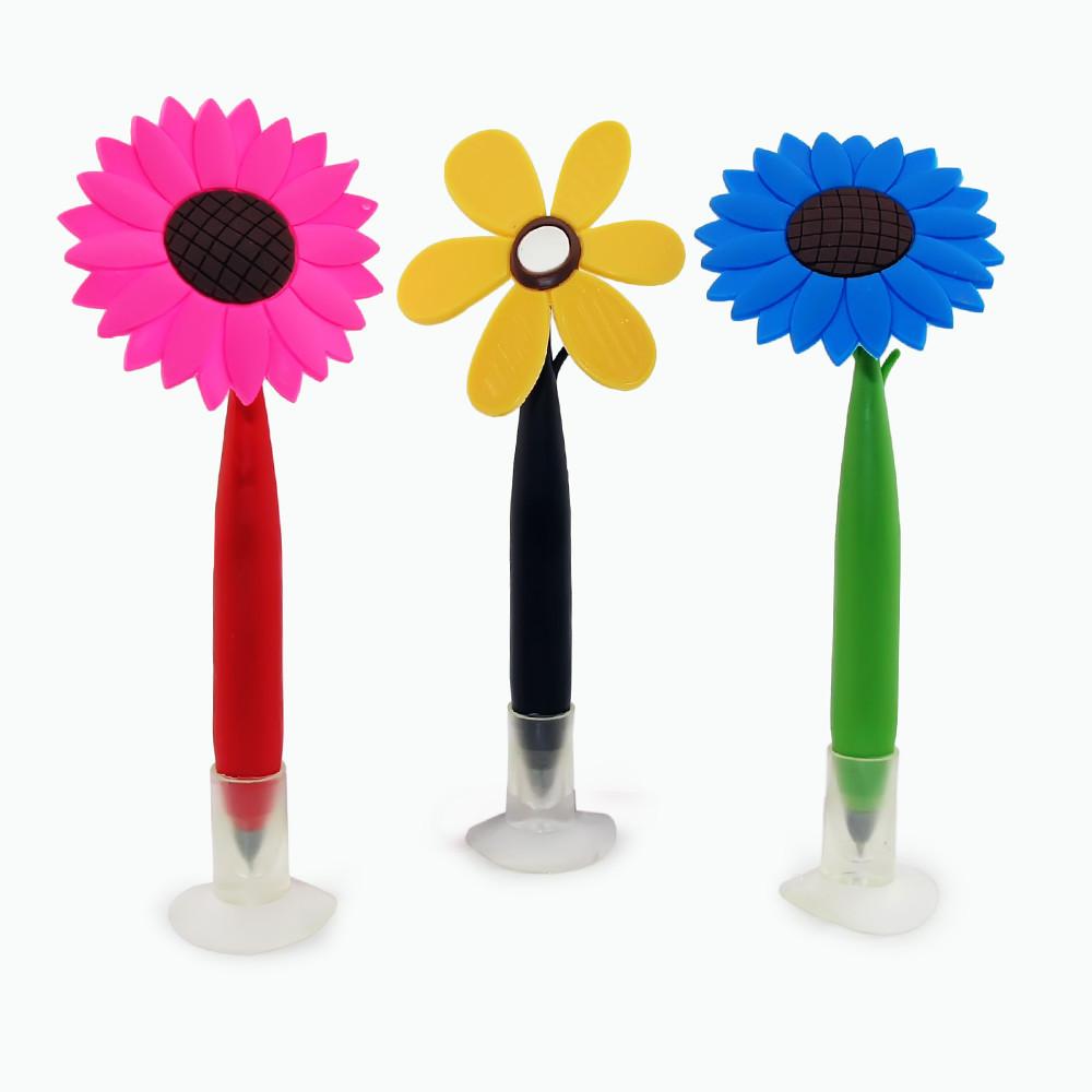 Ручка Цветок с колпачком (уп. 5 шт)