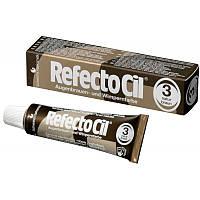 RefectoCil №3 Haтypaльнo-кopичнeвaя - кpacкa для бpoвeй и pecниц