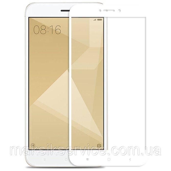 Защитное стекло Full Screen для Xiaomi Redmi Note 4 белое