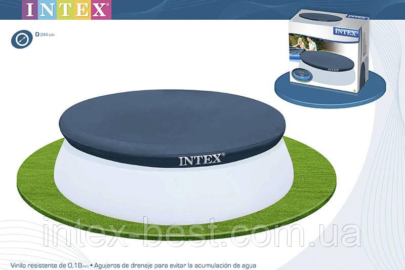 Тент для надувного круглого бассейна Intex 28020 (58939) 244 см.
