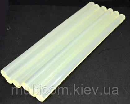 12-00-218. Термоклей диаметр 7 мм, длина - 300 мм, прозрачный, в упаковке 1кг
