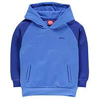 Толстовка для мальчика на флисе Slazenger, синяя кофта, толстовка для мальчика, толстовка с капюшоном, фото 1