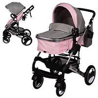 Коляска детская El Camino ME 1006-8-11 GRANDE Pink