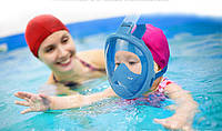 Маска Tribord Free Breath II generation детская голубая/розовая