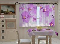 """Фотошторы и скатерть на кухню """"Кухня в орхидеях"""""""
