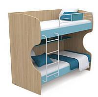 Кровать двухъярусная Кв-12 Акварели бирюзовые