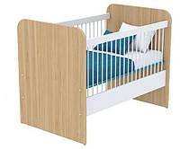 Кроватка для новорожденного под матрас 600х1200 Кв-50 Акварели бирюзовые