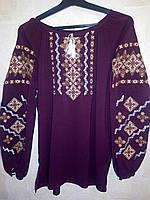 """Женская шифоновая блузка вышиванка """"Узор 19"""""""