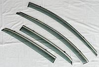 Дефлекторы окон ветровики на HYUNDAI ХУНДАЙ Хендай I30 Mk2 хэтчбек ASP с молдингом нержавеющей стали