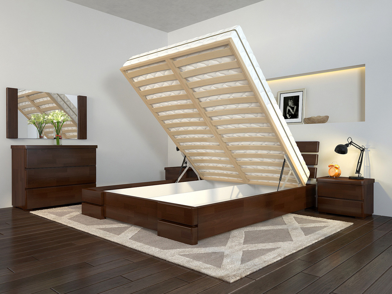 Кровать Arbordrev Дали Люкс с механизмом сосна (все размеры)