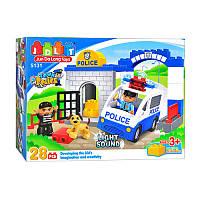 """Конструктор JDLT 5131 (Аналог Lego Duplo) """"Полицейский участок"""" 28 деталей  Свет+Звук"""