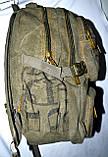 Брезентовый синий рюкзак городской 28*41 см, фото 3