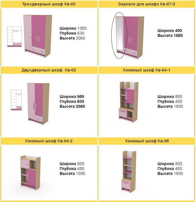 Шкаф Акварели розовые (ассортимент шкафов)