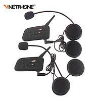 Интерком V6-1200 комплектиз 2 мотогарнитур-интеркомов на шлем Bluetooth 3.0