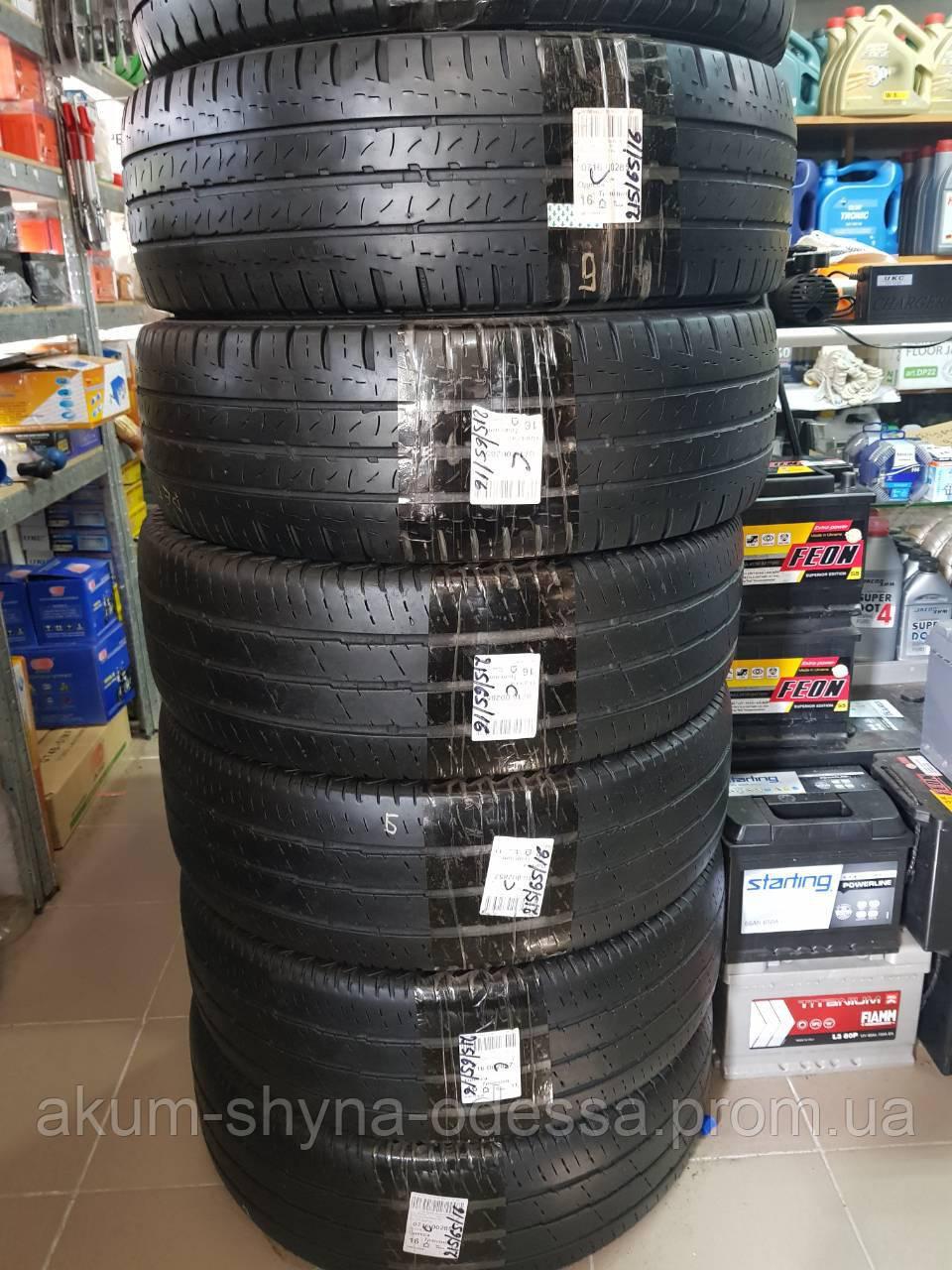 Шины зимние б/у 215/65 16С Continental протектор 6,5mm, комплект