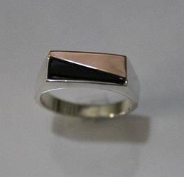 Печатка серебряная с ониксом  (ch0004)
