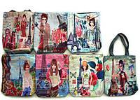 Пляжные сумки дешево оптом Китай (принт)40*30
