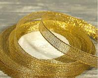 Лента парча 10мм золото