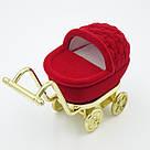 Футляр для кольца Коляска красная, фото 2