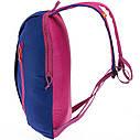 Городской повседневный рюкзак унисекс СУМКИ QUECHUA ARPENAZ 10 ЛИТРОВ   Синий с  малиновым, фото 3