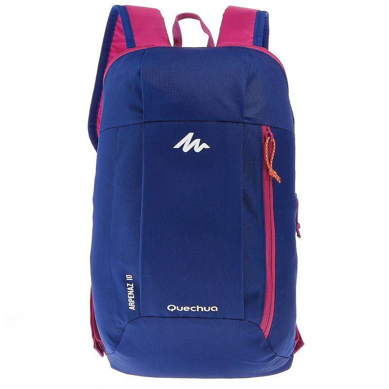 Городской повседневный рюкзак унисекс СУМКИ QUECHUA ARPENAZ 10 ЛИТРОВ   Синий с  малиновым