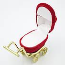 Футляр для кольца Коляска красная, фото 3
