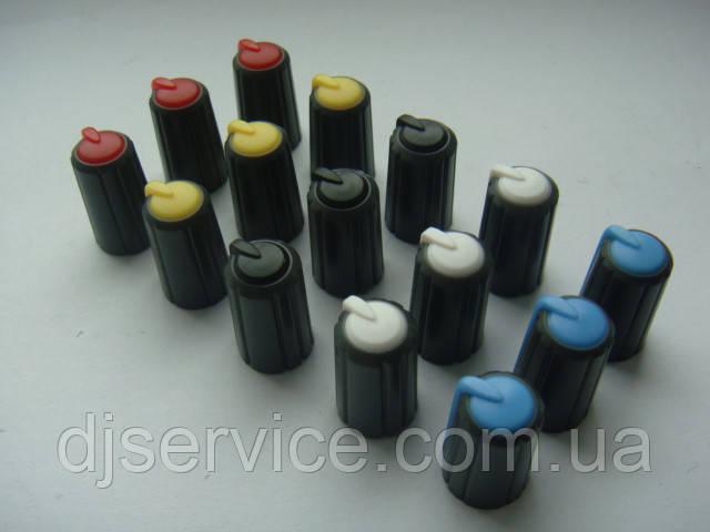 Ручка темно-серая 17.9mm для потенциометров пультов Phonic, Muzon, Mackie (цветная)