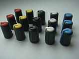 Ручка темно-серая 17.9mm для потенциометров пультов Phonic, Muzon, Mackie (цветная), фото 3