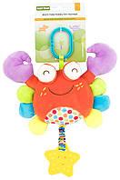 Мягкий многофункциональный прорезыватель подвеска Baby Team Краб (8533 Краб) , фото 1