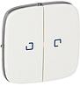 Valena ALLURE Клавіша вимикача 2-клавішного з підсвіткою Білий