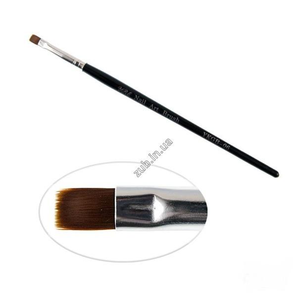 Кисть для геля YRE Nail Art Bruch YKGB 06, прямая, искусственный ворс