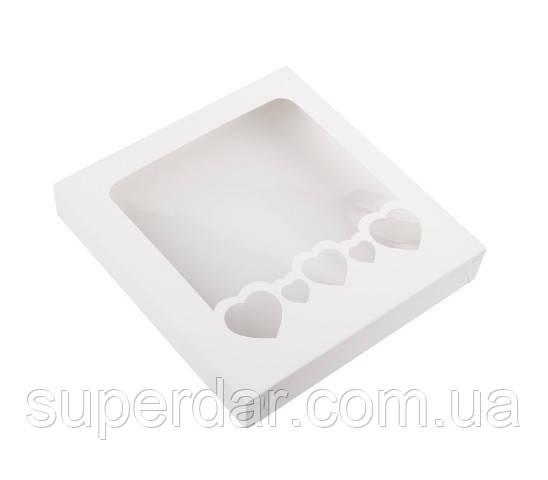Коробка для пряников 150х150х30 мм., белая