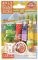 Набор японских ластиков Iwako Напитки и снеки