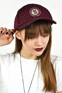 Женская кепка  марсала