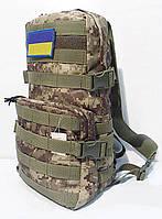 Тактический, штурмовой рюкзак с отсеком под гидратор 12 литров пиксель