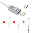 Кабель Promate linkMate-LTF3 Lightning-USB 3 м White, фото 5