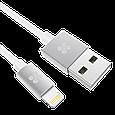 Кабель Promate linkMate-LTF3 Lightning-USB 3 м White, фото 2