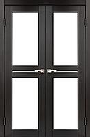 Дверь MILANO  ML-09. Со стеклом сатин (венге,дуб беленый,дуб грей,орех,дуб марсала). KORFAD