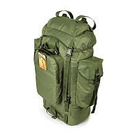 Тактический туристический армейский супер-крепкий рюкзак на 75 литров олива. Армия, рыбалка, спорт, туризм