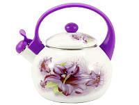 Чайник эмалированный 2,2 л Лилия 6/LG